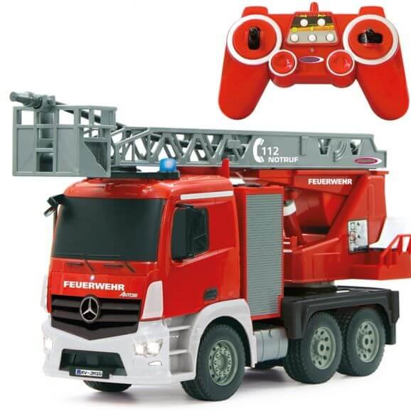 Radiostyrd brandbil Mercedes Antos 1:20
