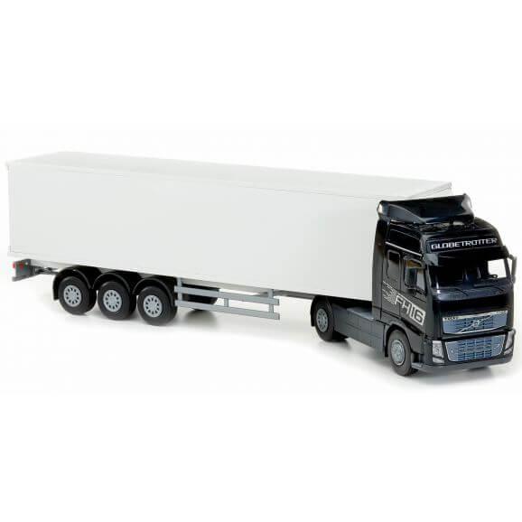 Volvo svart leksakslastbil FH 750. Emek 1:25