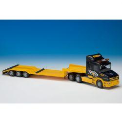Scania lastbil T Zeppelin CAT med trailer. Emek 1:25.