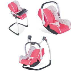 Doll Set 3-In-1 Quinny Maxi-Cosi/High Chair/Car