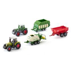 Siku Blister med två traktorer och tre vagnar