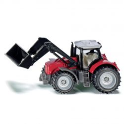 Siku Traktor Blister Massey Ferguson med frontlastare och skopa