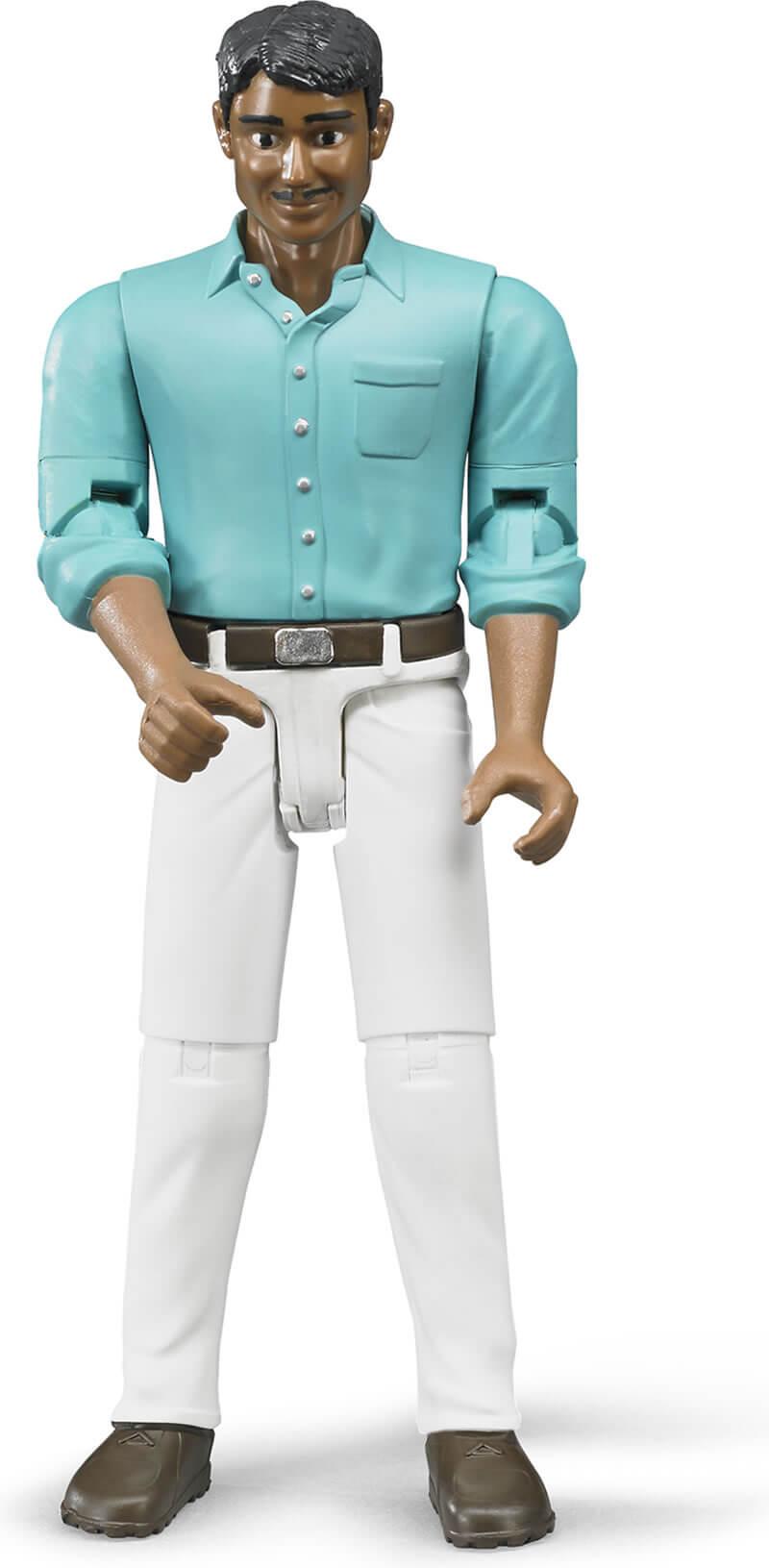 Bruder Figur Man med Vita Byxor 6003