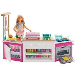 Barbie stort kök med en kock