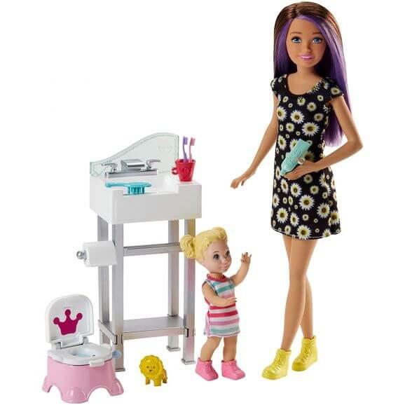 Barbie Babtsitter Playset Barnvakt Potträning Kit