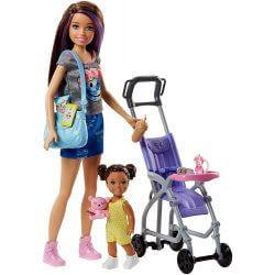 Barbie Skipper Babysitter Stroller med barnvagn