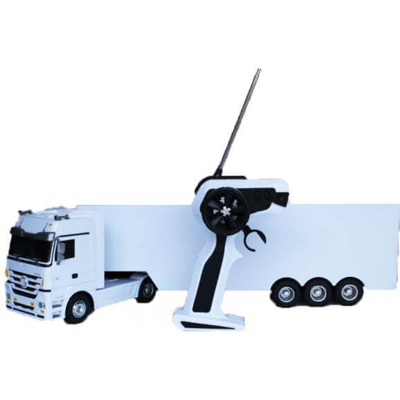 Radiostyrd Leksakslastbil Mercedes Actros Trailer Jamara 1:32