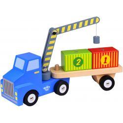 Lastbil leksak med container och magnetkran Tooky Toy