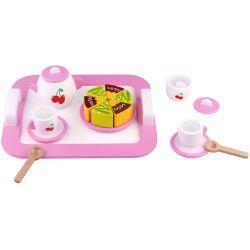 Teset afternoon tea i trä Leksaksmat Tooky Toy