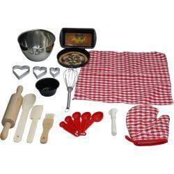 Bakset leksak för bakning 16 delar