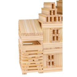 Byggstavar och trästavar Leksak i trä 250 st Tooky Toy