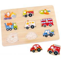 Pussel med figursågade fordon Tooky Toy