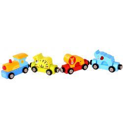 Tooky Toy Tåg med cirkusdjur till tågbanor