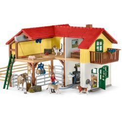 Schleich Bondgård med figurer och djur