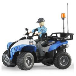 Bruder Fyrhjuling Polis Med Förare 63010
