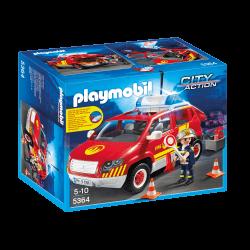 Playmobil Brandchefsbil Med Ljud Och Ljus 5364