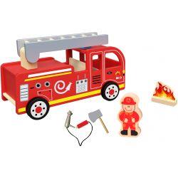 Brandbil leksak i trä stor Tooky Toy