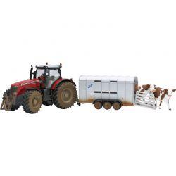 Siku Massey Ferguson Traktor med Williams Boskapsvagn 8608
