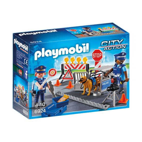 Playmobil Vägspärr Polis 6924