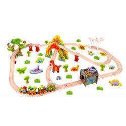 Stort tågset med dinosaurier och tågbana Tooky Toy