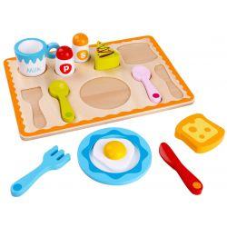 Leksaksmat i trä, frukostset, Tooky Toy