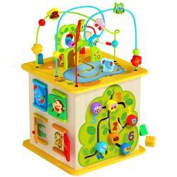 Aktivitetslåda i trä med skogs och naturtema, Tooky Toy