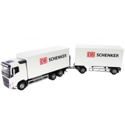 Emek Schenker Volvo leksakslastbil med släp