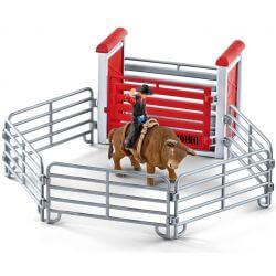 Schleich Bull Riding Tjurridning Cowboy 41419