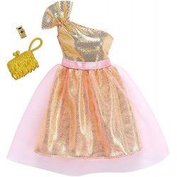 Barbie Fashion Klädset Klänning guld och rosa FKT10
