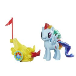 My Little Pony Rainbow Dash Spin Along Chariot B9835