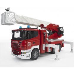 Bruder Brandbil Lastbil Scania Med Vattenpump 03590