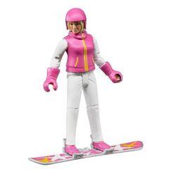 Bruder Snowboardåkare med tillbehör