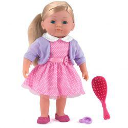 Dolls World Docka 36 cm Charlotte med lila kofta