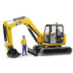 Bruder Grävmaskin Caterpillar Mini med förare 02466