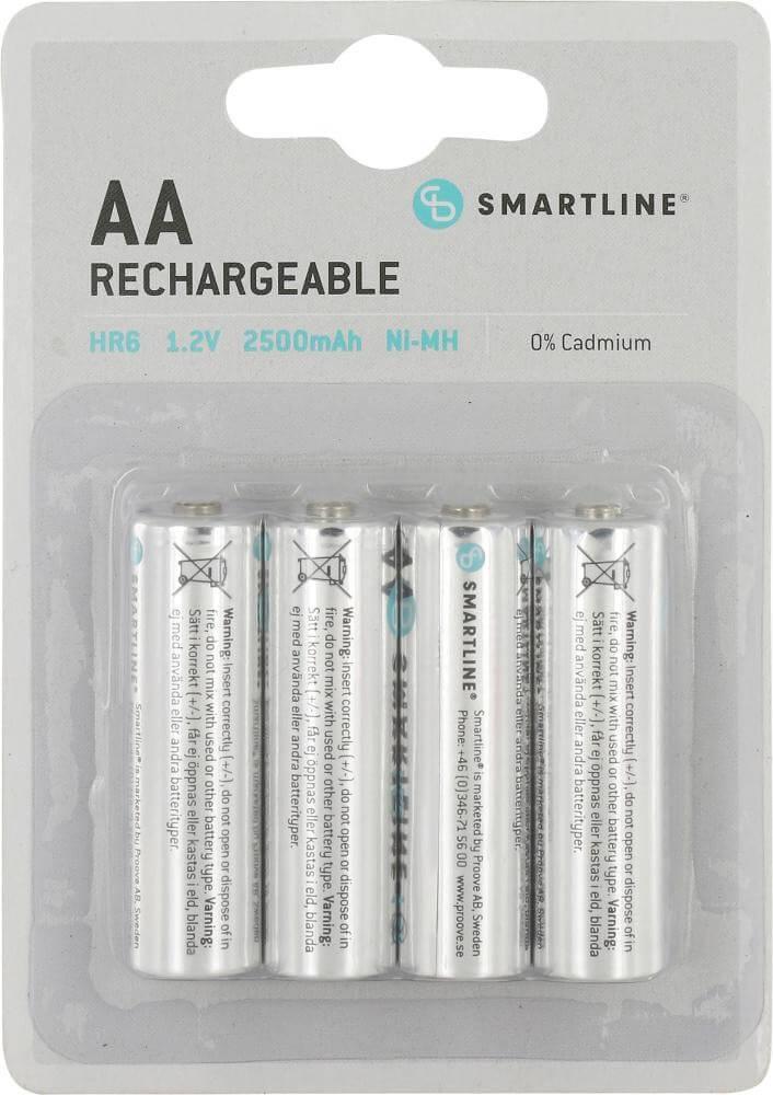 Läs mer om AA, 1,5 Volt Batterier. Uppladdningsbara. 4 st.