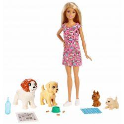 Barbie Doggy Daycare Docka och Husdjur FXH08