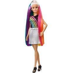 Barbie Rainbow Sparkle Hair Doll FXN96