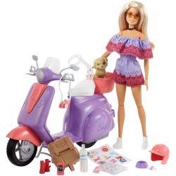 Barbie Rosa Pass Docka med Scooter FNY34