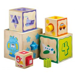 Jouéco® - Stacking Tower with shape sorter