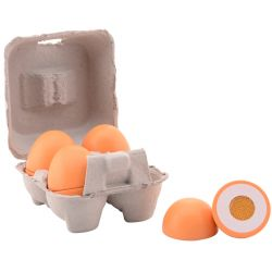 Jouéco® - Leksaksmat 4 ägg i trä med kartong