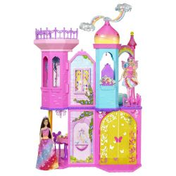 Barbie Dockskåp Fairytale Rainbow Castle DPY39