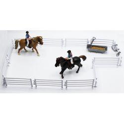 Kids Globe Hästar med ryttare och tillbehör 1:24