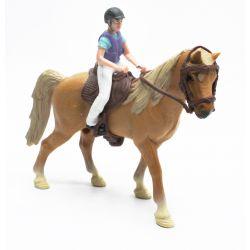 Kids Globe Brun Häst med ryttare 1:24