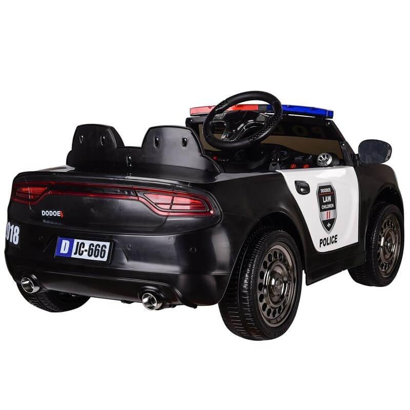 3e622347a24 Azeno Elbil barn polisbil 12V med ljus och megafon - Leksakscity.se