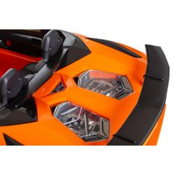 Elbil leksak för barn rideon Lamborghini Aventador SV orange 2x12V
