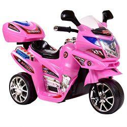 Azeno Elmotorcykel barn Night Rider 6V Rosa