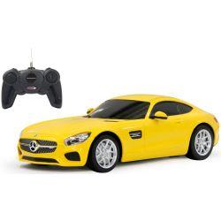 Radiostyrd Bil Mercedes AMG GT Gul 1:24 - 27 MHz