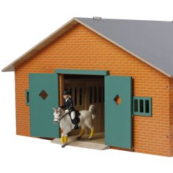 Kids Globe Stall leksak 7 st. boxar till Schleich hästar 1:24