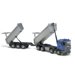 Leksakslastbil Scania med tippbart släp