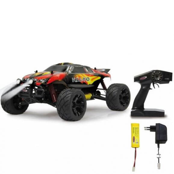 Radiostyrd Vulcano Monstertruck 1:10 4WD NiMh LED Lampa